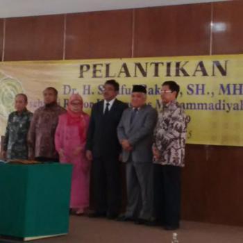 Fungsionaris DMI Dilantik Menjadi Rektor UMJ