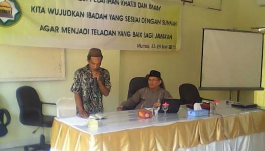 DMI Bangka Barat Selenggarakan Pelatihan Imam dan Khatib