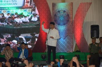 Presiden Jokowi-PMII Doa Bersama di Masjid Al-Akbar
