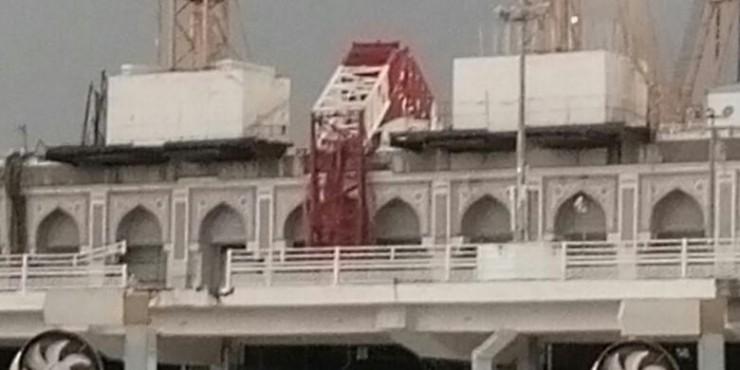 Sumber: Istimewa/ www.dmi.or.id   - Crane jatuh di Masjidil Haram, Makkah, Saudi Arabia