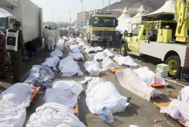 Sumber: Reuters / Jama'ah Haji yang wafat akibat Musibah Mina