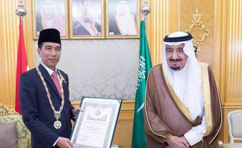 Sumber: Istimewa / Presiden Joko Widodo dan Raja Salman bin Abdul Aziz Al-Saud