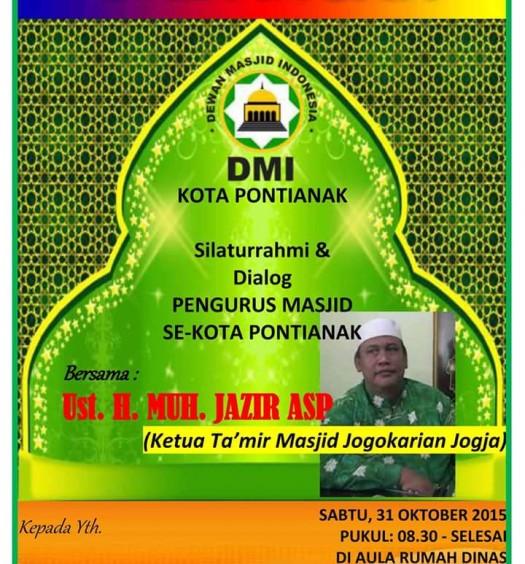 Sumber: Sekretaris PD DMI Kota Pontianak/ H. Muhammad Arif, S.Ag.
