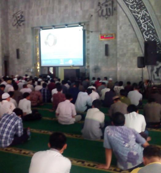 Sumber: www.dmi.or.id / Kegiatan Masjid Ukhuwwah Islamiyyah, Universitas Indonesia, Depok, pada Jum'at (6/11) siang.
