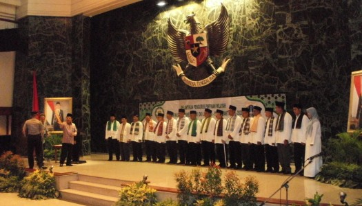Wapres Kalla Kukuhkan Pengurus PW DMI DKI Jakarta