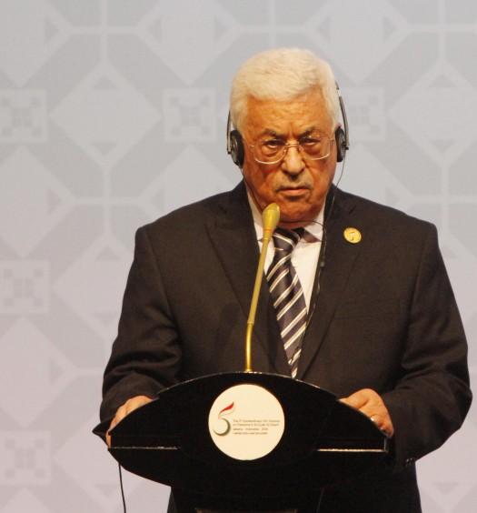Sumber: www.oic-esPresiden Palestina Mahmoud Abbas saat memberikan keterangan pers setelah ditutupnya KTT Luar Biasa ke-5 OKI di di JCC, Senayan, Jakarta, Senin (7/3).