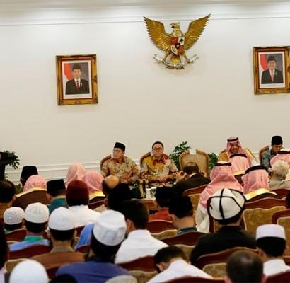 Sumber: www.antaranews.com  Penutupan Musabaqah Hafalan Al-Quran dan Hadits Tingkat Asia Pasifik ke VII Pangeran Sulthan bin Abdul Aziz di Istana Wapres, Jakarta, pada Kamis (21/4).