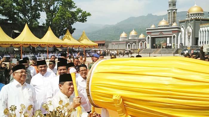 Peresmian Masjid At-Taqwa, Kutacane, Kabupaten Aceh Tenggara, Provinsi Aceh, pada Jumat (8/4) pagi, oleh Ketua DPR RI, DR. H. Ade Komaruddin, M.H.