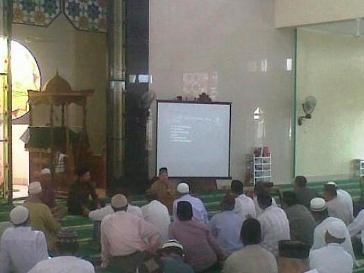 Suasana Peltihan Manajemen Masjid yang diselenggarakan oleh DMI Provinsi Baengka Belitung pada Senin (13/6) di Masjid Raya Tuatunu Indah, Kecmatan Geruggang, Kota Pangkalpinang.  Sumber: http://bangka.tribunnews.com/