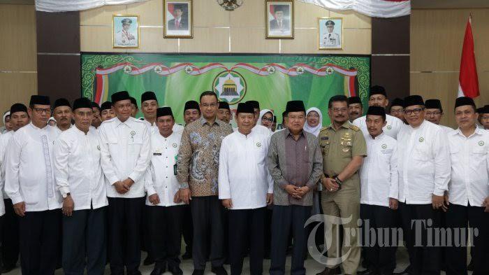 Pengukuhan PW DMI Sulsel Masa Bakti 2016-2021 oleh Wapres Jusuf Kalla pada Selasa (26/7) di Makassar, Sulsel.  Sumber: http://makassar.tribunnews.com