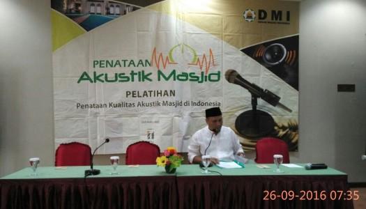 DMI Selenggarakan Pelatihan Penataan Kualitas Akustik Masjid