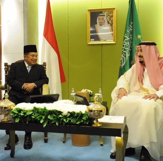 Wapres Jusuf Kalla dan Raja Salman (Foto: Husain Abdullah/Juru Bicara Wapres JK)