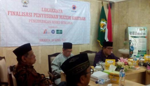 DMI-BNPB-IABI Selenggarakan Lokakarya Finalisasi Penyusunan Materi Khutbah PRB