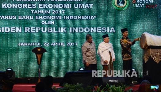Presiden Jokowi Resmikan Pembukaan Kongres Ekonomi Umat