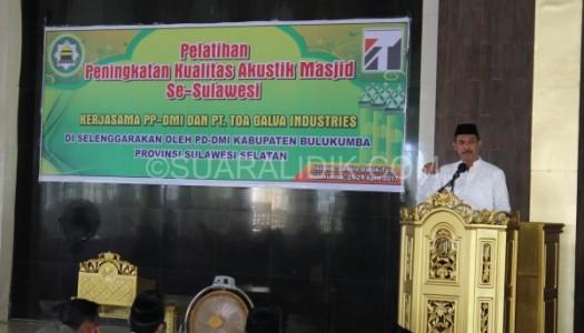 DMI Bulukumba Selenggarakan Pelatihan Penataan Akustik Masjid