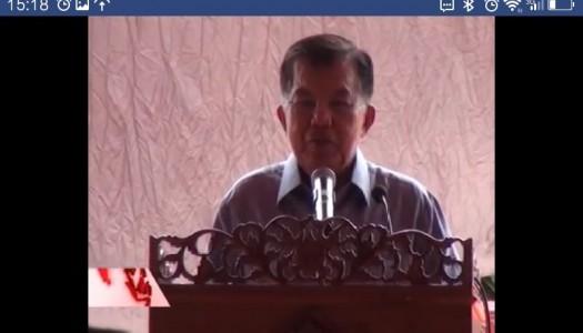 Video Peresmian Masjid Baiturrahmah oleh Wapres Jusuf Kalla
