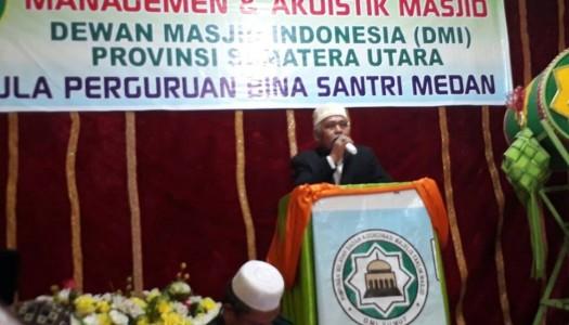 DMI Sumut Selenggarakan Pelatihan Manajemen Akustik Masjid