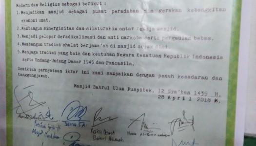 1.000 Remaja Tandatangani Ikrar Remaja Masjid Se-Kota Tangsel