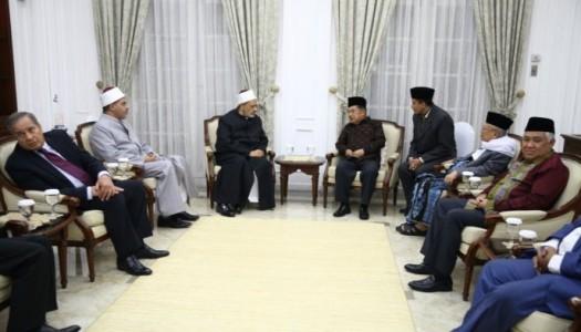 Wapres Kalla Terima Kunjungan Kehormatan Imam Besar Al-Azhar