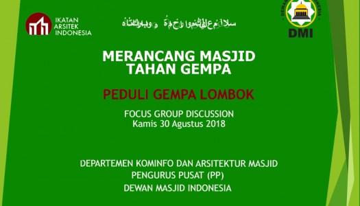 Merancang Masjid Tahan Gempa: Peduli Gempa Lombok