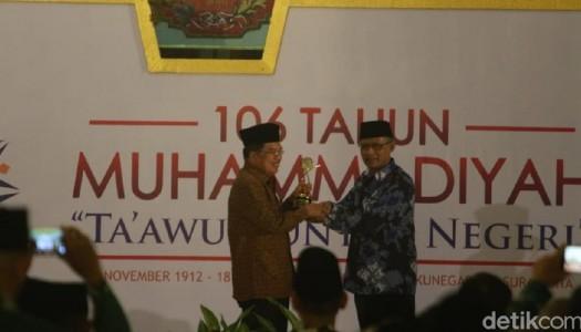 Wapres Jusuf Kalla Terima Muhammadiyah Award