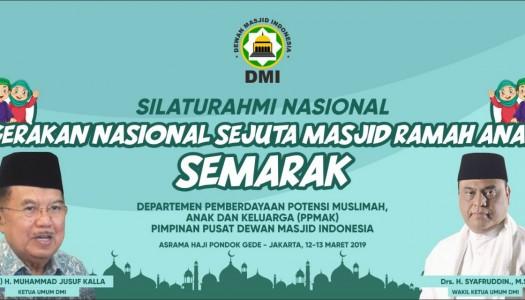 Deklarasikan GN-SEMARAK, DMI Bertekad Wujudkan Indonesia Ramah Anak 2030