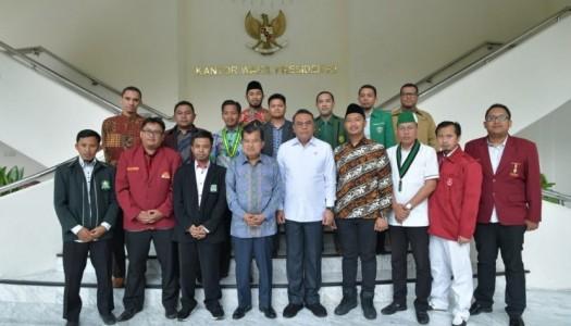 Wapres Kalla Terima Kunjungan 18 Organisasi Kepemudaan Islam