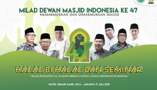 DMI: Optimalkan Fungsi Masjid, Wujudkan Indonesia Damai dan Bersatu