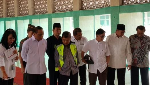 Wapres Kalla: Renovasi Masjid Istiqlal Perhatikan Kebutuhan Penyandang Disabilitas