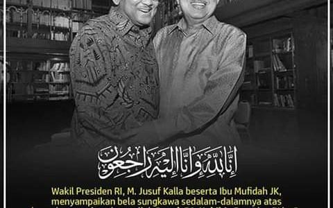Innalillahi, Prof. Bacharuddin Jusuf Habibie Wafat