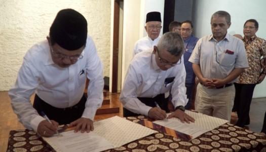 DMI-AMKI Menandatangani Nota Kesepahaman Tentang Memakmurkan Masjid