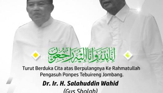 Innalillahi, KH. Sholahuddin Wahid Wafat