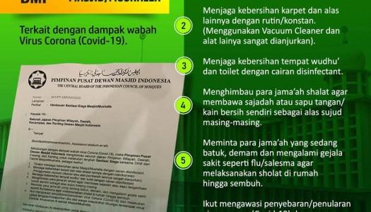 Waspada Corona (Covid-19), DMI Imbau Sanitasi Siaga Masjid