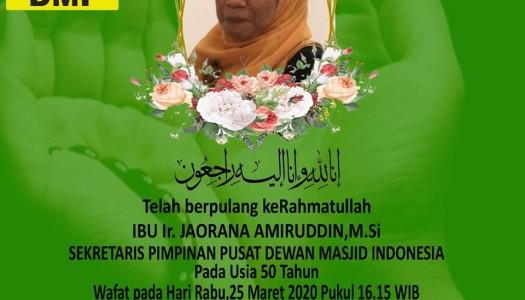 Innalillahi, Sekretaris PP DMI, Hj. Jaorana Amiruddin, Wafat
