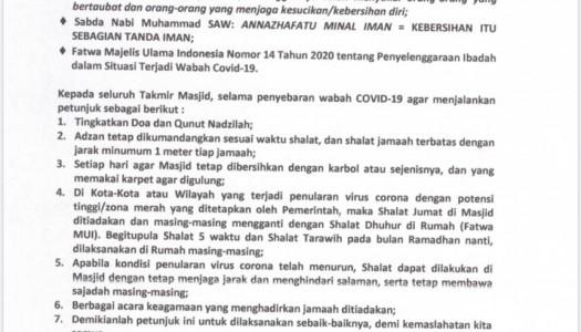 Cegah Penyebaran COVID-19, DMI Mengumumkan Surat Edaran Kedua