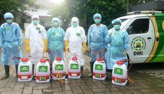 Timnas DMI Menyemprot Disinfektan di 1.746 Masjid se-DKI Jakarta