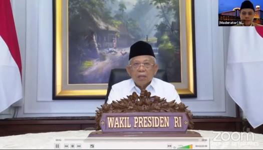 Wapres Ma'ruf: 'Bangun Pola Pikir 'Wasathiyyah' dan Peradaban Islam dari Masjid'