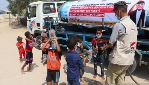 DMI Membantu 1.000.000 Liter Air Bersih untuk Warga Gaza