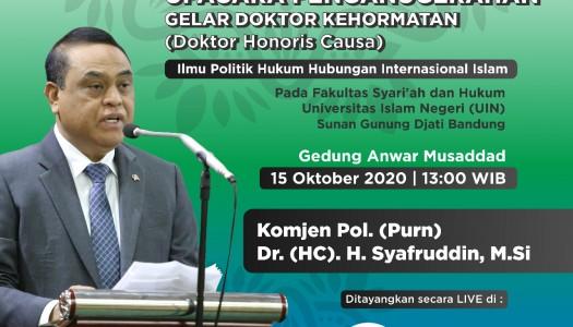 Waketum DMI Terima Gelar Doktor Kehormatan Dari UIN SGD